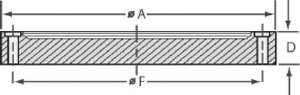 Wire seal blank flange female, OD = 610mm
