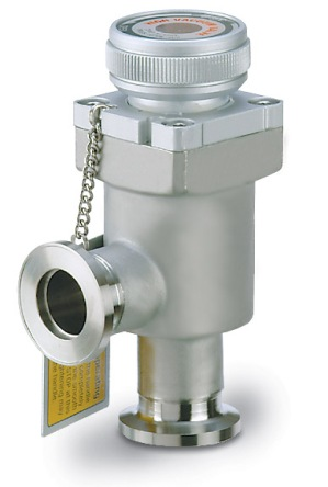 Manual operated, bellow sealed angle valve, DN16KF