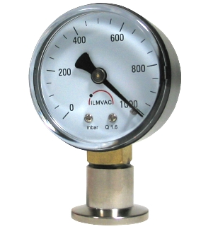 Bourdon gauge 1000 - 0 mBar, Housing, DN16KF connection