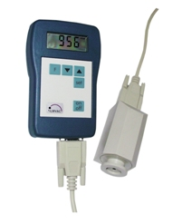 Hand held battery operated Piezo vacuum gauge