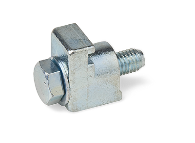 Aluminum single clamp for DN10/50KF flanges M6x20mm