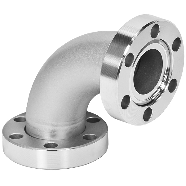 90º radius elbow both flanges rotatable, DN25CF