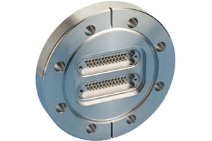 D-type subminiature feedthrough two-25-pins on DN63CF flange