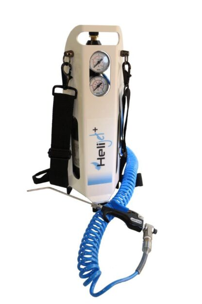 Heli-Jet portable Helium spray set with Gun, 0,7 ltr cylinder and dual stage Regulator
