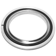 Centering ring with Aluminum outer ring and Viton seal, DN80ISO
