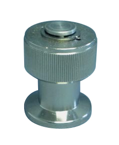 Manual operated venting valve DN10KF, nickel plated brass