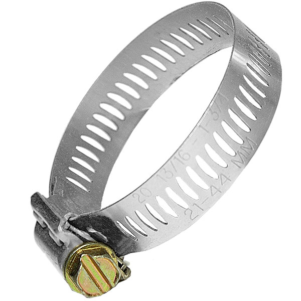 Hose clip variable diameter 12-22mm
