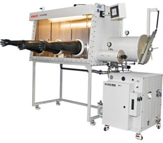 PureLab HE 3 gloves Inert work station - 1500mm long x 900mm deep. Gas purifier sold seperately