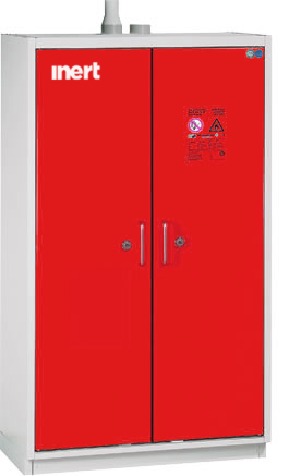 90 minutes fire safety cabinet for 4 solvent systems acc. Norm EN-14470-1