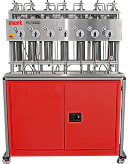 Solvent purification system for seven solvents with frame & column assembly. Flammable cabinet sold seperately.