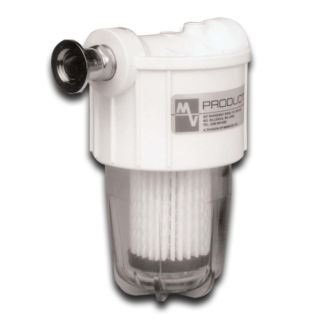 "VisiMist oil mist eliminator with 1"" connection microfiberglass filter element"