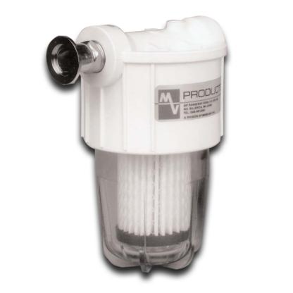 "VisiMist oil mist eliminator with 1"" connection microfiberglass filter element"