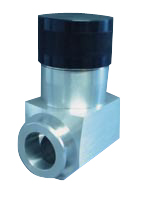 Manual operated bellow sealed Aluminum body in-line valve, DN16KF