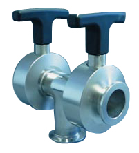 Manual operated double butterfly valve for 3-ports DN25KF