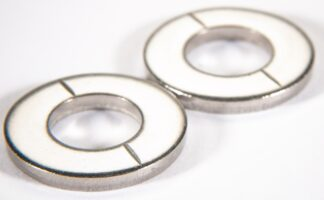 Metric vented flat washer Silver plated, M12