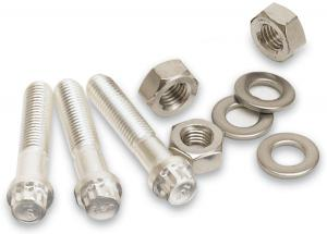 """Silver plated 12-point bolts and hex nuts 5/16-24x2.00"""", DN63CF and DN100CF"""