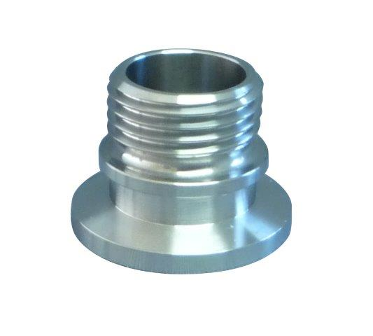 KF to male screw thread Nickel plated Brass, DN40KF to 1,1/2