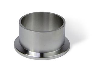 Half nipple short, DN10KF, height 16mm, tube OD=14mm, stainless steel 316L