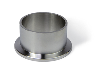 Half nipple short, DN50KF, height 25mm, tube OD=55mm, stainless steel 316L