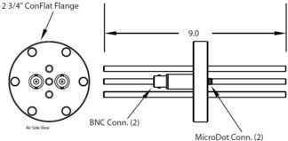 "2 MicroDot to BNC connector and 3 tubes (3/16"" OD), DN40CF"