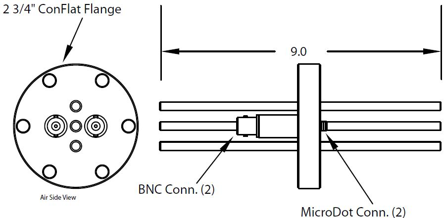 2 MicroDot to BNC connector and 3 tubes (3/16