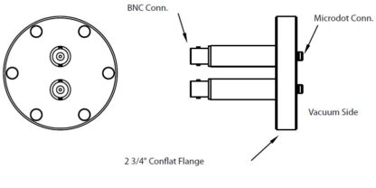 2 MicroDot to BNC connector, DN40CF