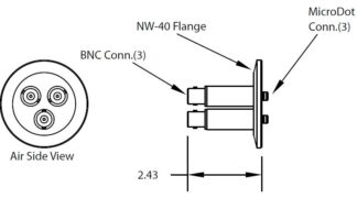 3 MicroDot to BNC connector, DN40KF