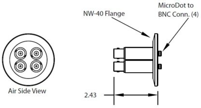 4 MicroDot to BNC connector, DN40KF