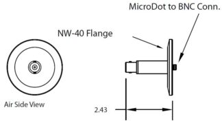 1 MicroDot to BNC connector, DN40KF
