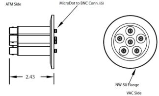 6 MicroDot to BNC connector, DN50KF