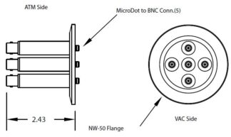 5 MicroDot to BNC connector, DN50KF