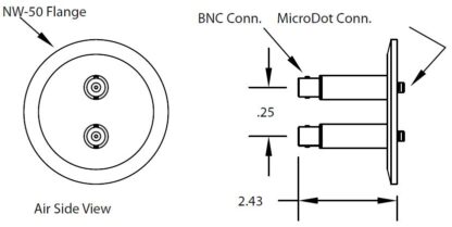 2 MicroDot to BNC connector, DN50KF