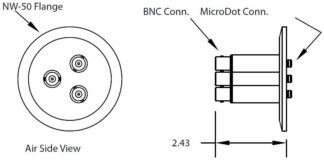 3 MicroDot to BNC connector, DN50KF