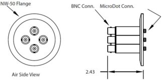 4 MicroDot to BNC connector, DN50KF