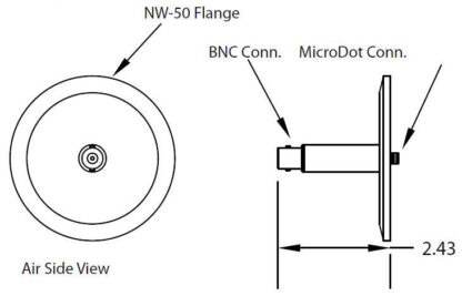 1 MicroDot to BNC connector, DN50KF