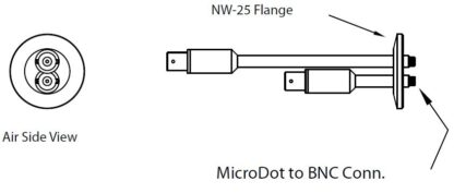 2 MicroDot to BNC connector, DN25KF