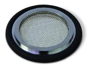 Filter centering ring 0.3 mm, Silicone, DN16KF