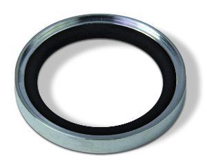 Outer centering ring Aluminum Neoprene, DN25KF/DN20KF