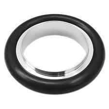 Centering ring Perbunan, DN40KF, stainless steel 316