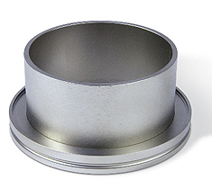 Half nipple short DN63ISO, height 30mm, tube OD=76mm, stainless steel 316L