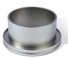 Half nipple short Aluminum, DN160ISO, height 30mm, tube OD=160mm