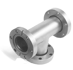 Tee fixed flanges, DN100CF, stainless steel 316L