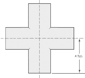 4-Way cross tube 6