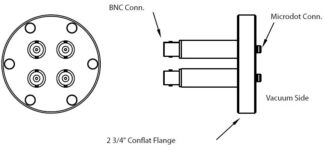 4 MicroDot to BNC connector, DN40CF