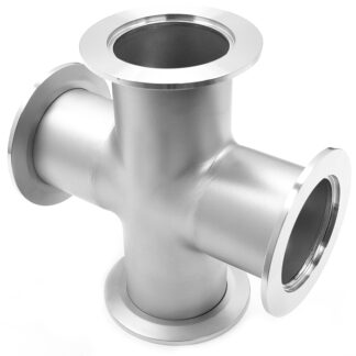 Cross 4-way DN50KF, stainless steel 316L