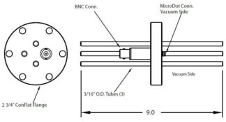 "1 MicroDot to BNC connector and 2 cooling tubes (2/3"" OD), DN40CF"