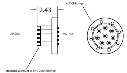 8 MicroDot to BNC connector, DN63CF