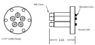5 MicroDot to BNC connector, DN40CF