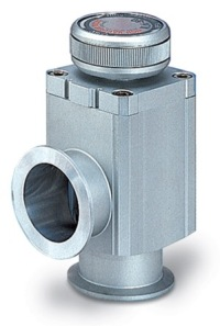 Manual operated, bellow sealed Aluminum body angle valve, DN25KF