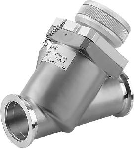 Manual operated, bellow sealed angle-in-line valve, DN40KF